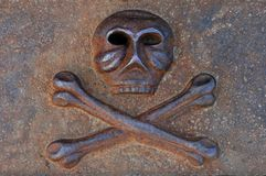 Iron Cast Skull Royalty Free Stock Image