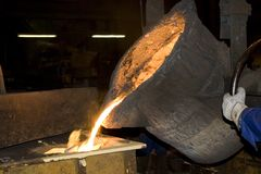 Iron Casting Royalty Free Stock Photos