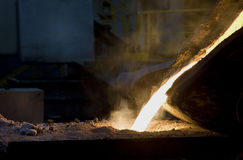 Iron casting in foundry Stock Photography