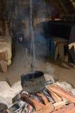Iron cauldron Royalty Free Stock Image