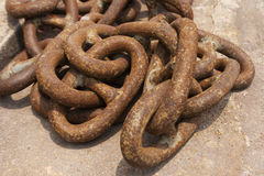 Iron chain big old Royalty Free Stock Photography