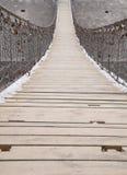 Iron chain bridge Royalty Free Stock Photography