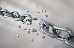 iron chain is broken royalty free stock image