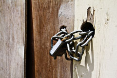 Iron chain buckle lock Stock Images