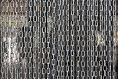 Iron chain. Curtain close up Royalty Free Stock Images