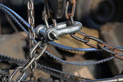 The iron chain Stock Photography