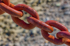 Iron Chain Link Macro Royalty Free Stock Photography