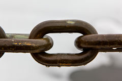 Iron Chain Links. Up Close in the Rain stock photos