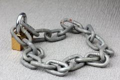 Iron chain lock key Royalty Free Stock Photos
