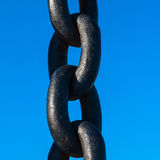 The iron chain Royalty Free Stock Images