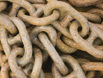 Iron chains. Close up view of iron chains Royalty Free Stock Photos