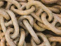 Iron chains Royalty Free Stock Photos