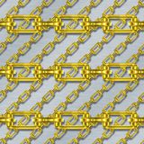 Iron chains with brushed metal seamless texture Stock Photography