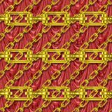 Iron chains with drapery seamless texture Royalty Free Stock Photography