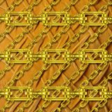 Iron chains with plush texture Stock Images