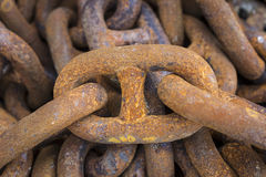 Iron chains Royalty Free Stock Photography