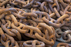 Iron chains Stock Photo