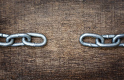Iron chains separately Royalty Free Stock Images