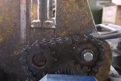 Iron chains shaft Stock Photos