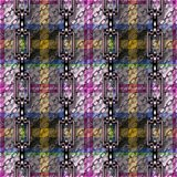 Iron chains with tartan seamless texture Stock Images