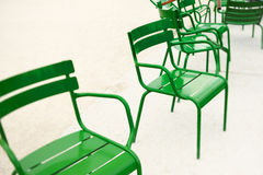 Iron chairs Royalty Free Stock Photo
