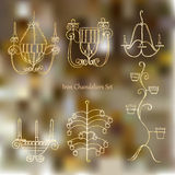 Iron chandeliers set Stock Image