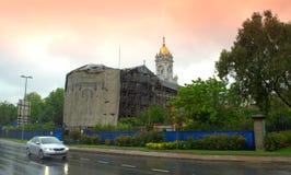Iron church under renovation Istanbul Royalty Free Stock Photography