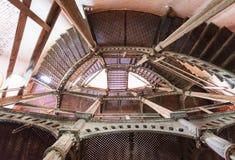 Iron circular staircase in Fort Alexander Chumnoy Stock Photos