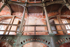 Iron circular staircase in Fort Alexander Chumnoy Stock Photo