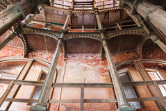 Iron circular staircase in Fort Alexander Chumnoy Stock Photography