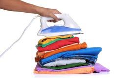 Iron clothes Stock Photo
