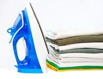 Iron and clothing Stock Image