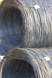 Iron in coils. Tied with wire royalty free stock photography