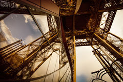 Iron construction of Eiffel tower Stock Image