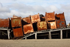 Iron containers Royalty Free Stock Photography