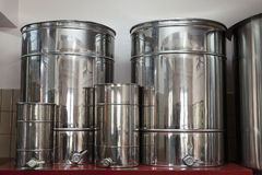 Iron containers to oil storage Stock Photo