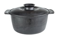 Iron Cooking Pot Royalty Free Stock Images