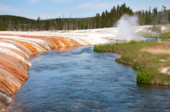 Iron Creek and Cliff Geyser Stock Photo