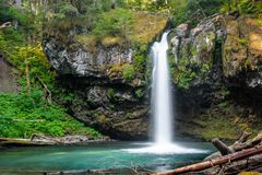 Iron Creek Falls royalty free stock photos