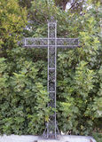 Iron Cross. Catholic in a park stock photo