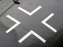 Iron Cross insignia. From the wing of a first world war German aeroplane Royalty Free Stock Image