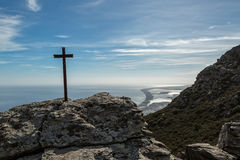 Iron cross in the mountains on the east coast of Corsica Royalty Free Stock Photo