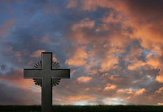 Iron cross sunset Royalty Free Stock Photos