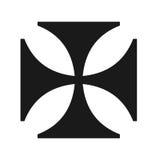 Iron cross symbol. Closeup of Iron cross symbol on white background Royalty Free Stock Photography
