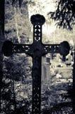 Iron cross. Symbols in the cemetery stock photo