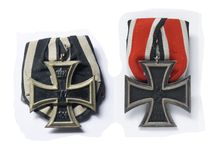 Iron Crosses Second Class. From both world wars Royalty Free Stock Photography