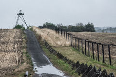 Iron curtain in cizov Stock Photography