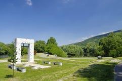 The Iron Curtain Monument, Bratislava, Slovakia Royalty Free Stock Photography