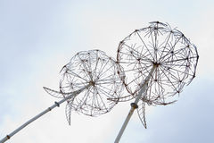 Iron  dandelions decoration in the sky Stock Images