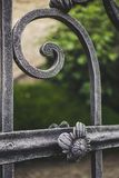 Iron decoration. Ornamental gate decoration in iron royalty free stock images